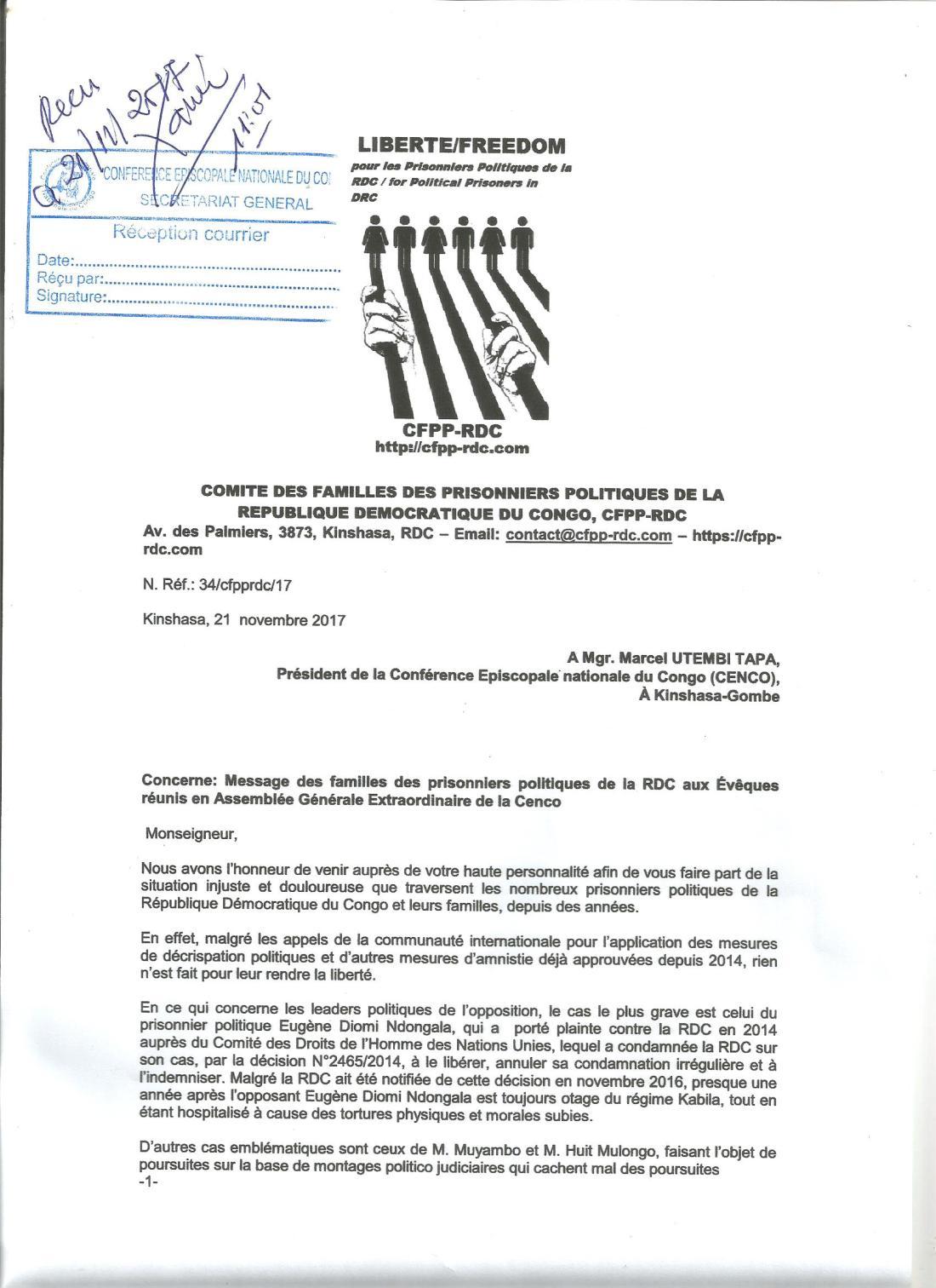 lettre a cfpp-rdc A.R.