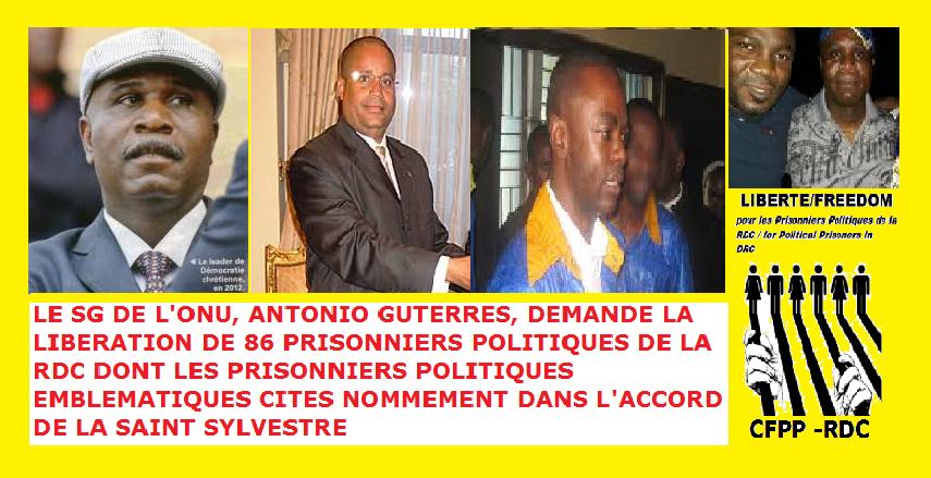 PRISONNIERS POLITIQUES RDC MAI 2018