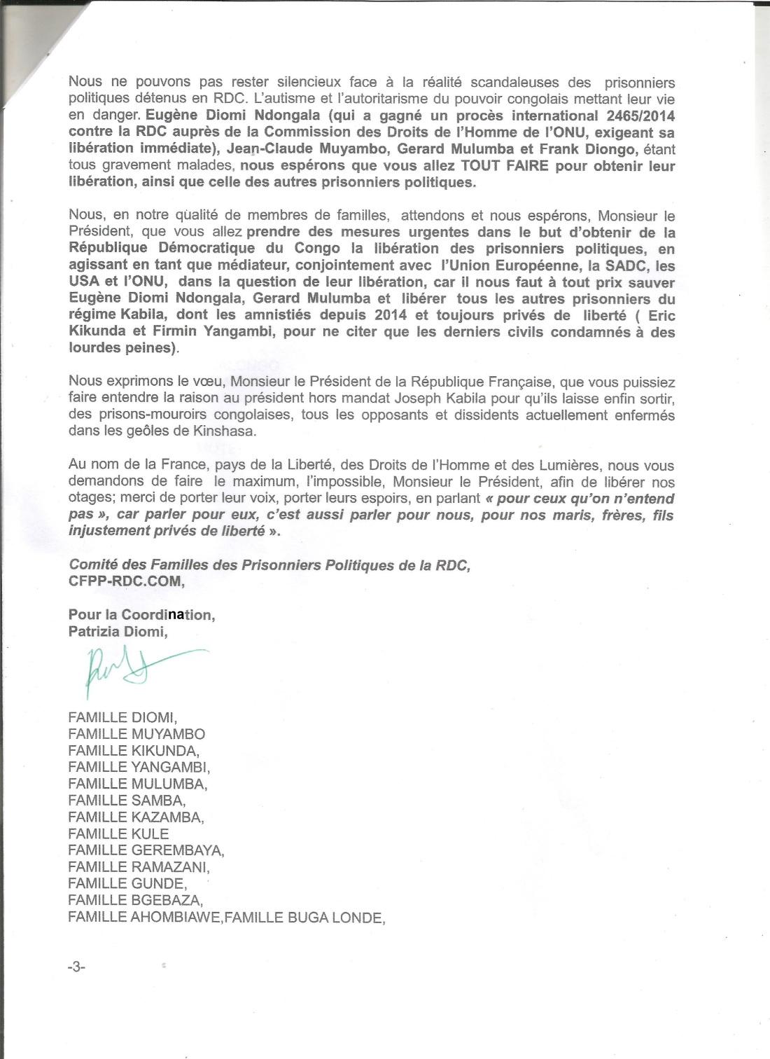 lettre ouverte au président Macron -A.R 3