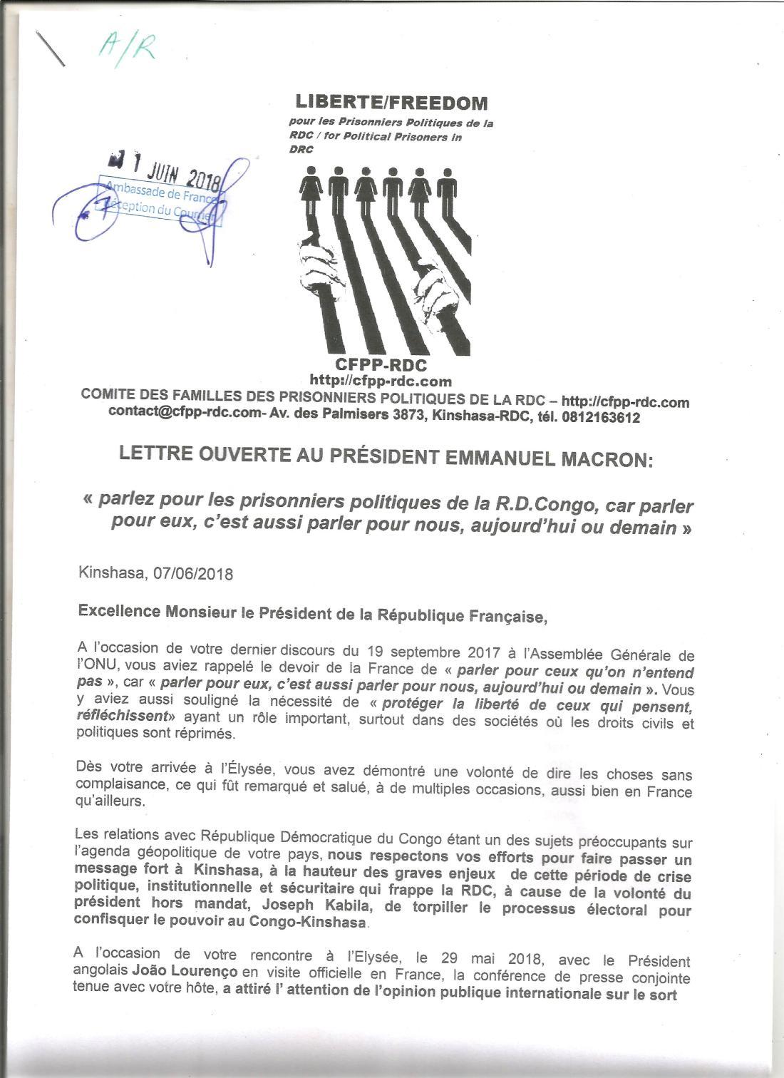 lettre ouverte au président Macron -A.R 40001