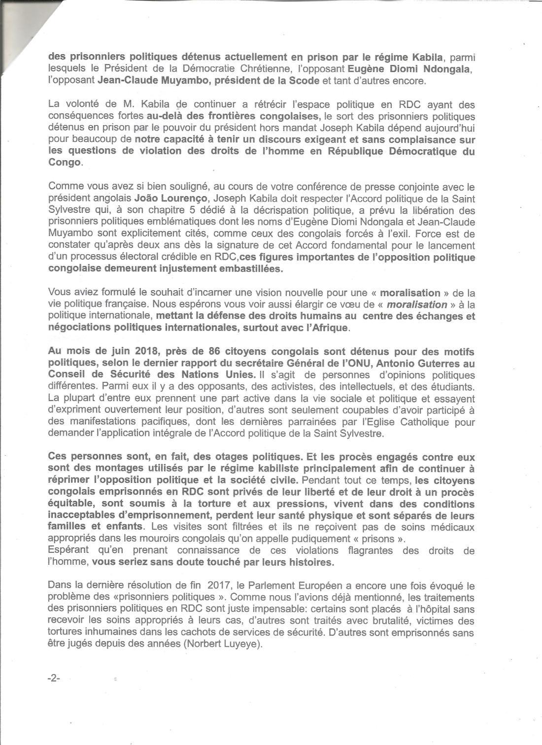 lettre ouverte au président Macron -A.R 40002