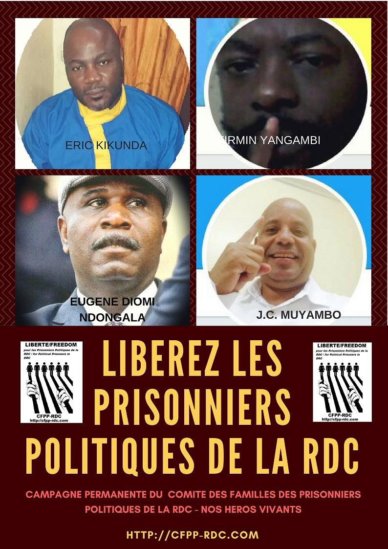 CAMPAGNE PERMANENTE CFPP PRISONNIERS POLITIQUES AFFICHE