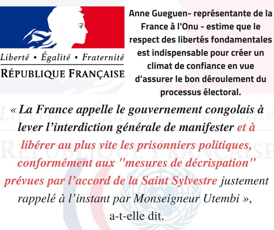 Anne Gueguen estime que le respect des libertés fondamentales est indispensable pour créer un climat de confiance en vue d_assurer le bon déroulement du processus électoral. (1)