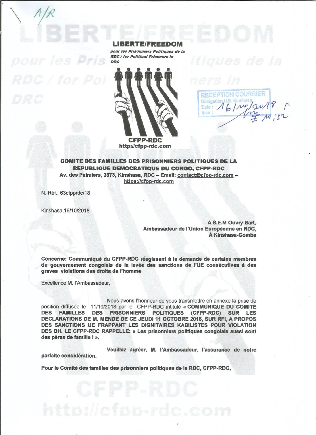 LETTRE A SEM L AMBASSADEUR UE - CFFP 1610180001